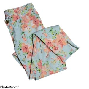 Candie's Floral Slim Fit Jeans with Zippers Size 5